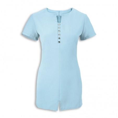 Women's Notch Neck Beauty Tunic (Teal) - NF58