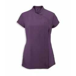 Women's Asymmetrical Zip Tunic (Amethyst) - NF59