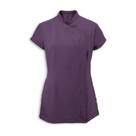 Women's Asymmetrical Zip Tunic (Amethyst) - NF59