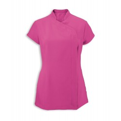 Women's Asymmetrical Zip Tunic (Hot Pink) - NF59