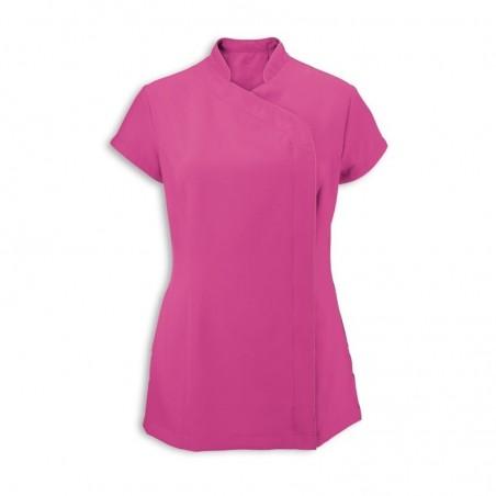 Women's Asymmetrical Zip Tunic (Hot Pink) - NF59