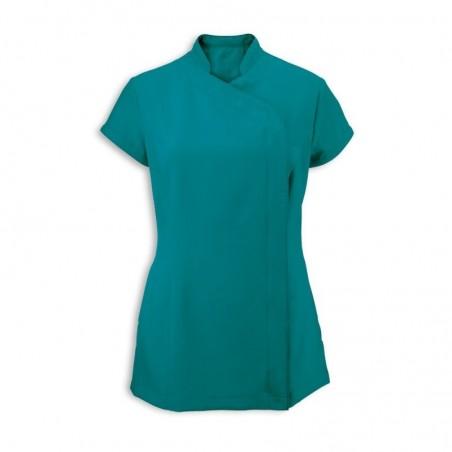 Women's Asymmetrical Zip Tunic (Lagoon) - NF59