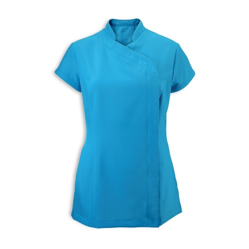 Women's Asymmetrical Zip Tunic (Peacock) - NF59
