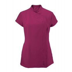 Women's Asymmetrical Zip Tunic (Raspberry) - NF59