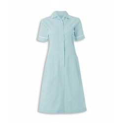 Stripe Dress (Aqua with White Trim) - ST312