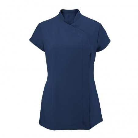 Women's Asymmetrical Zip Tunic (Navy) - NF59
