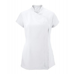 Women's Asymmetrical Zip Tunic (White) - NF59