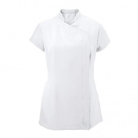 Women's Asymmetrical Zip Tunic (White) - NF59