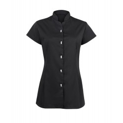 Women's Button Front Tunic (Black) - NF172