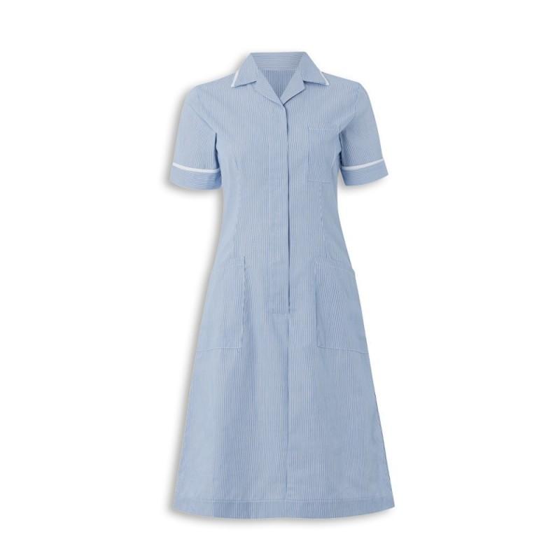 Stripe Dress (Blue With White Trim) - ST312
