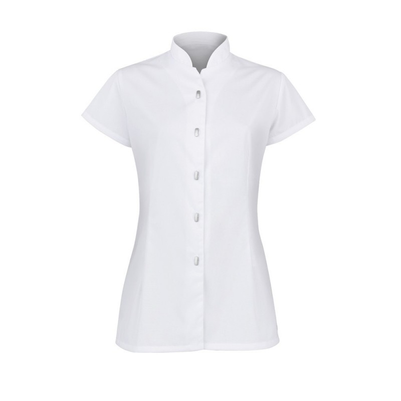 Women's Button Front Tunic (White) - NF172
