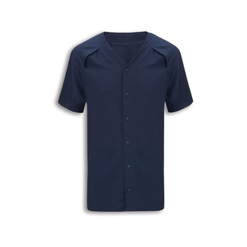 Patient Pyjama Top (Navy) - NU322