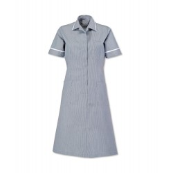 Stripe Dress (Navy With White Trim) - ST312