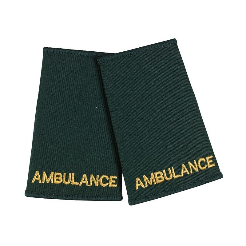 Ambulance Epaulette Sliders (Dark Green) - NU73