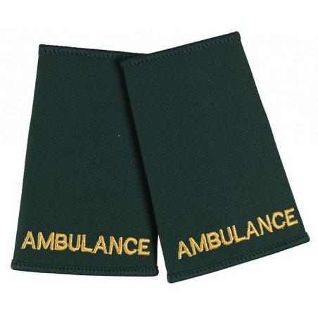 Ambulance Epaulette Sliders (Dark Green) - NU73