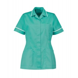 Women's Healthcare Tunic (Aqua Marine with White Trim) - D313