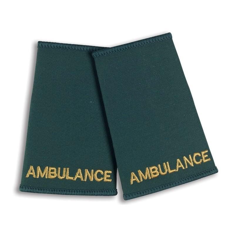 Ambulance Epaulette Sliders (Bottle Green) - NU73
