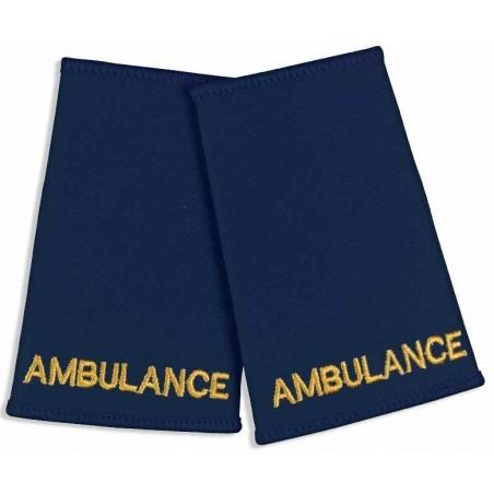 Ambulance Epaulette Sliders (Navy) - NU73