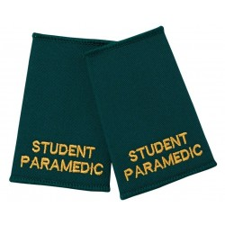 Student Paramedic Epaulette Sliders (Bottle Green) - NU89