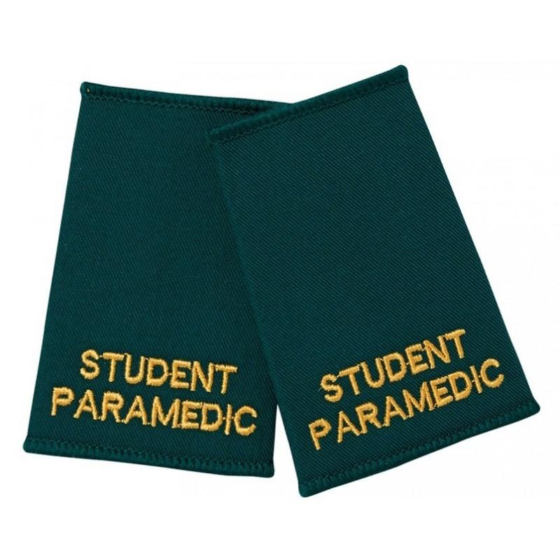 Student Paramedic Epaulette Sliders (Bottle Green) - NU89