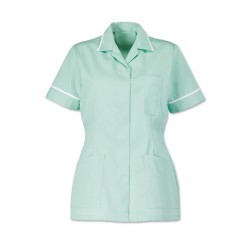Women's Healthcare Tunic (Aqua with White Trim) - D313