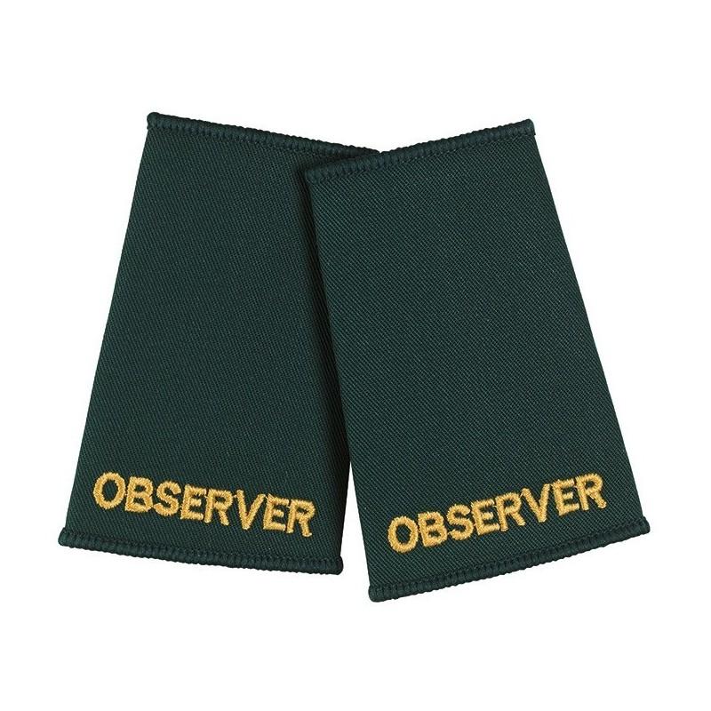 Observer Epaulette Sliders (Dark Green) - NU75