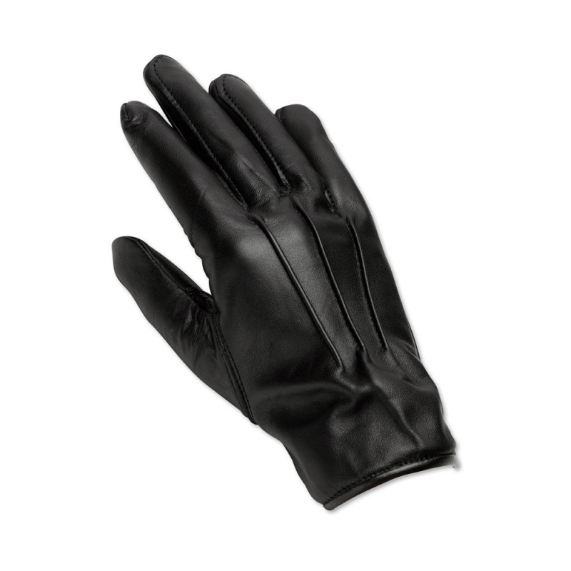 Men's Leather Gloves (Black) - LAG1
