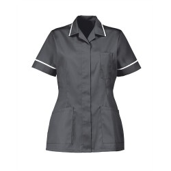 Women's Healthcare Tunic (Convoy Grey with White Trim) - D313