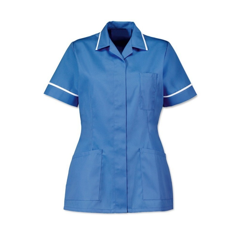 Women's Tunic (Hospital Blue With White Trim) - D313
