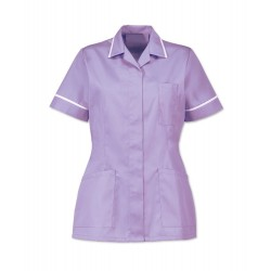 Women's Healthcare Tunic (Lilac with White Trim) - D313