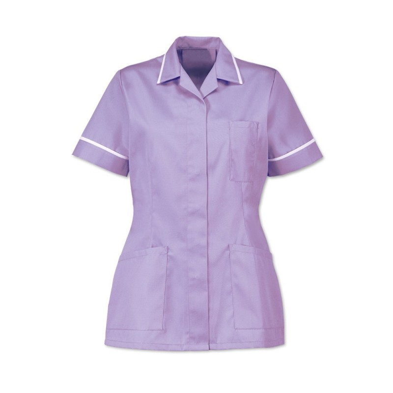 Women's Tunic (Lilac With White Trim) - D313