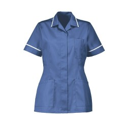 Women's Healthcare Tunic (Metro Blue with White Trim) - D313