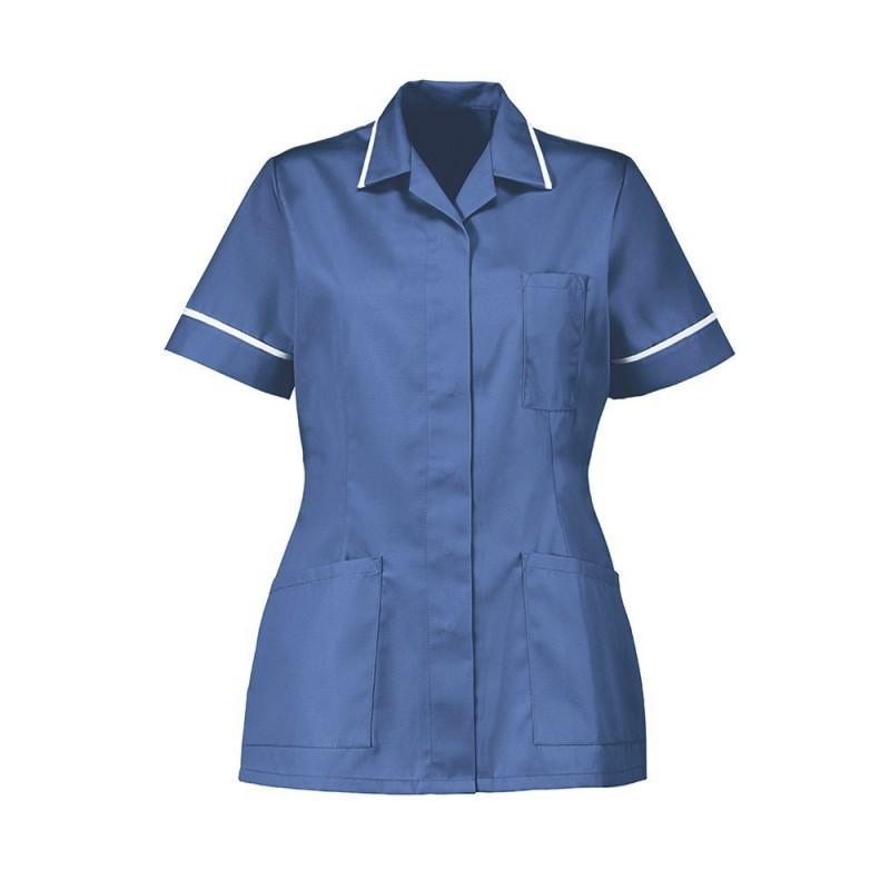 Women's Tunic (Metro Blue With White Trim) - D313