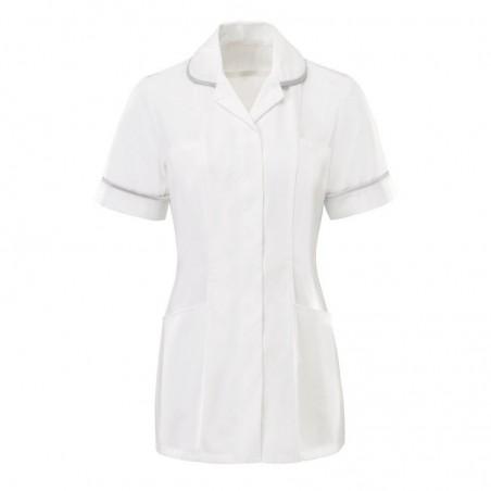 Women's Tunic (White with Pale Grey Trim) - HP369W