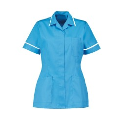 Women's Healthcare Tunic (Peacock with White Trim) - D313