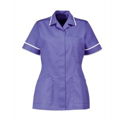 Women's Healthcare Tunic (Purple with White Trim) - D313