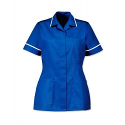 Women's Healthcare Tunic (Royal Box with White Trim) - D313