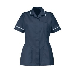 Women's Healthcare Tunic (Sailor Navy with Pale Blue Trim) - D313
