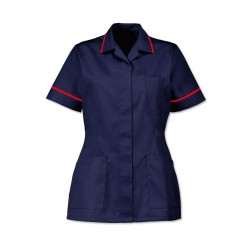 Women's Healthcare Tunic (Sailor Navy with Red Trim) - D313