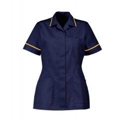 Women's Healthcare Tunic (Sailor Navy with Yellow Trim) - D313