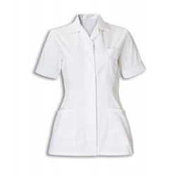Women's Healthcare Tunic (White with White Trim) - D313