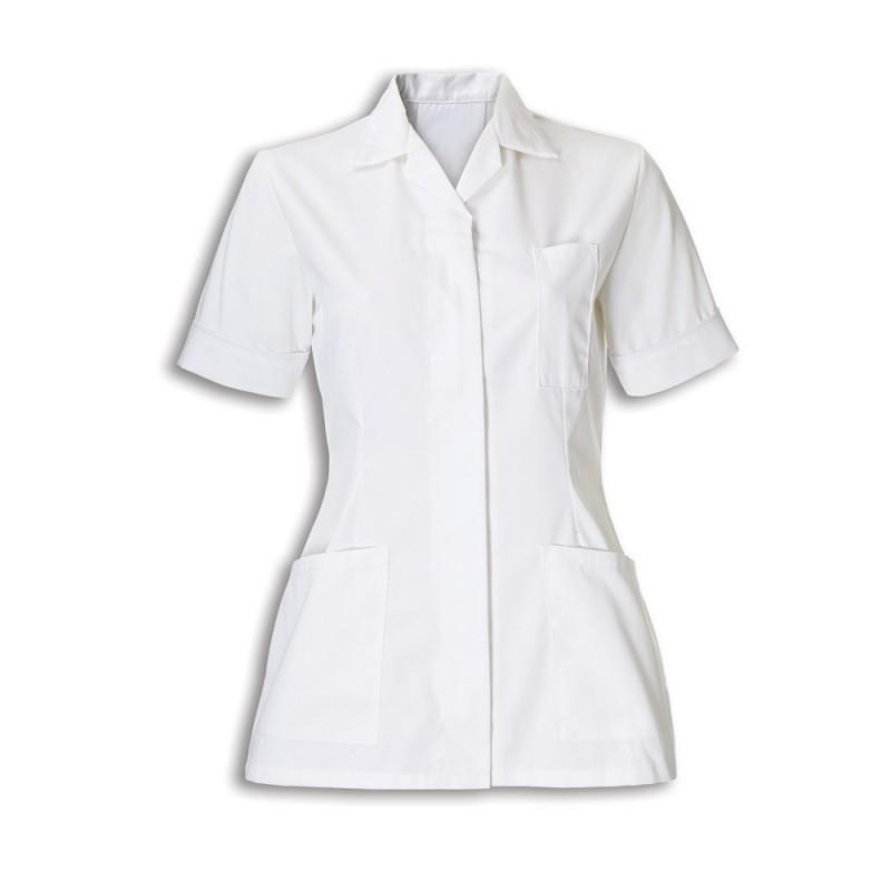 Women's Tunic (White With White Trim) - D313