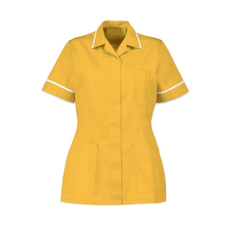 Women's Tunic (Yellow With White Trim) - D313