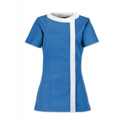 Women's Asymmetrical Tunic (Hospital Blue with White Trim) - NF191