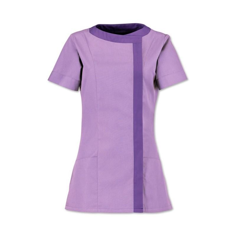 Women's Asymmetrical Tunic (Lilac With Purple Trim) - NF191