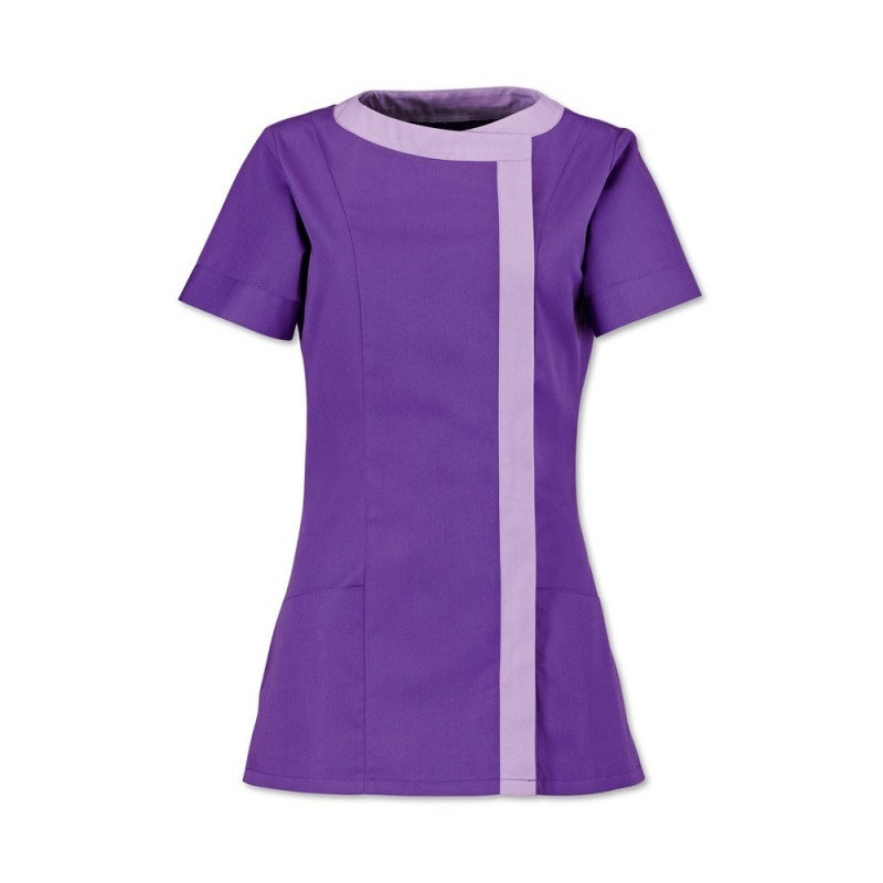 Women's Asymmetrical Tunic (Purple With Lilac Trim) - NF191