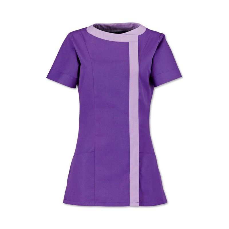 Women's Asymmetrical Tunic (Purple With Lilac Trim) - NF191