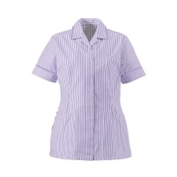 Women's Lightweight Stripe Tunic (Lilac/White with Lilac Trim) - HO137