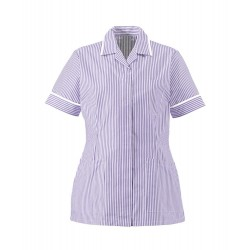Women's Lightweight Stripe Tunic (Lilac/White with White Trim) - HO137