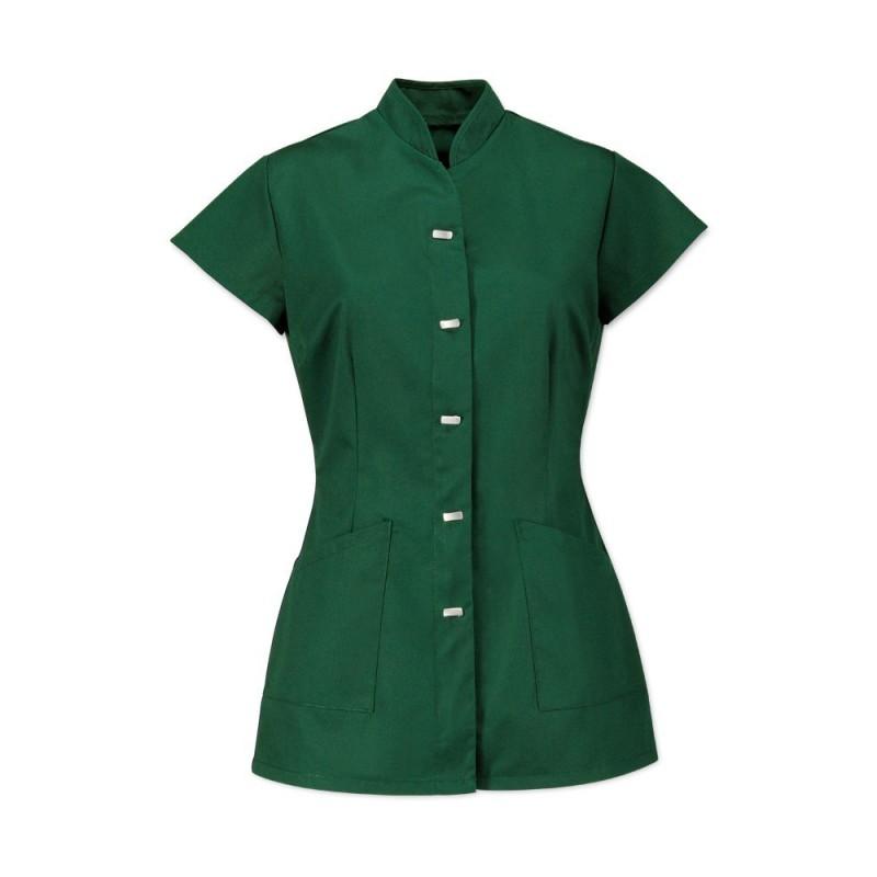 Women's Mock Fastening Tunic (Bottle Green) - NF969